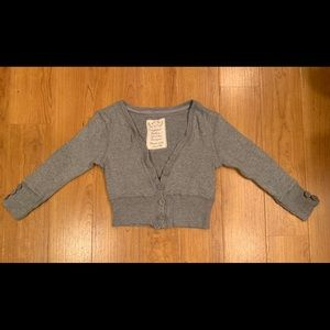 ❄️Poof Grey Cropped Cardigan Juniors Small